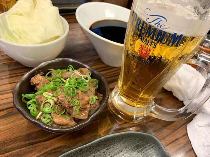 牛スジ煮込みと生ビール