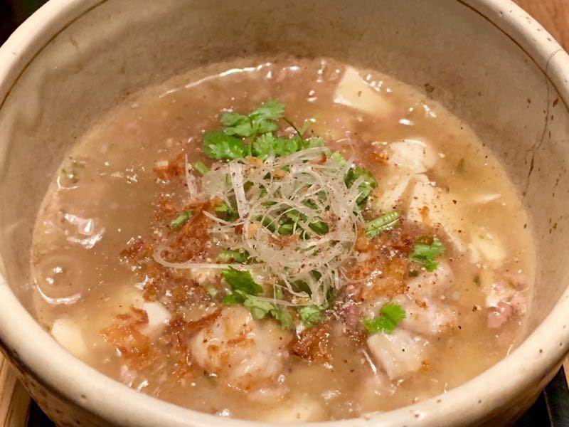 タラ白子白マーボー豆腐