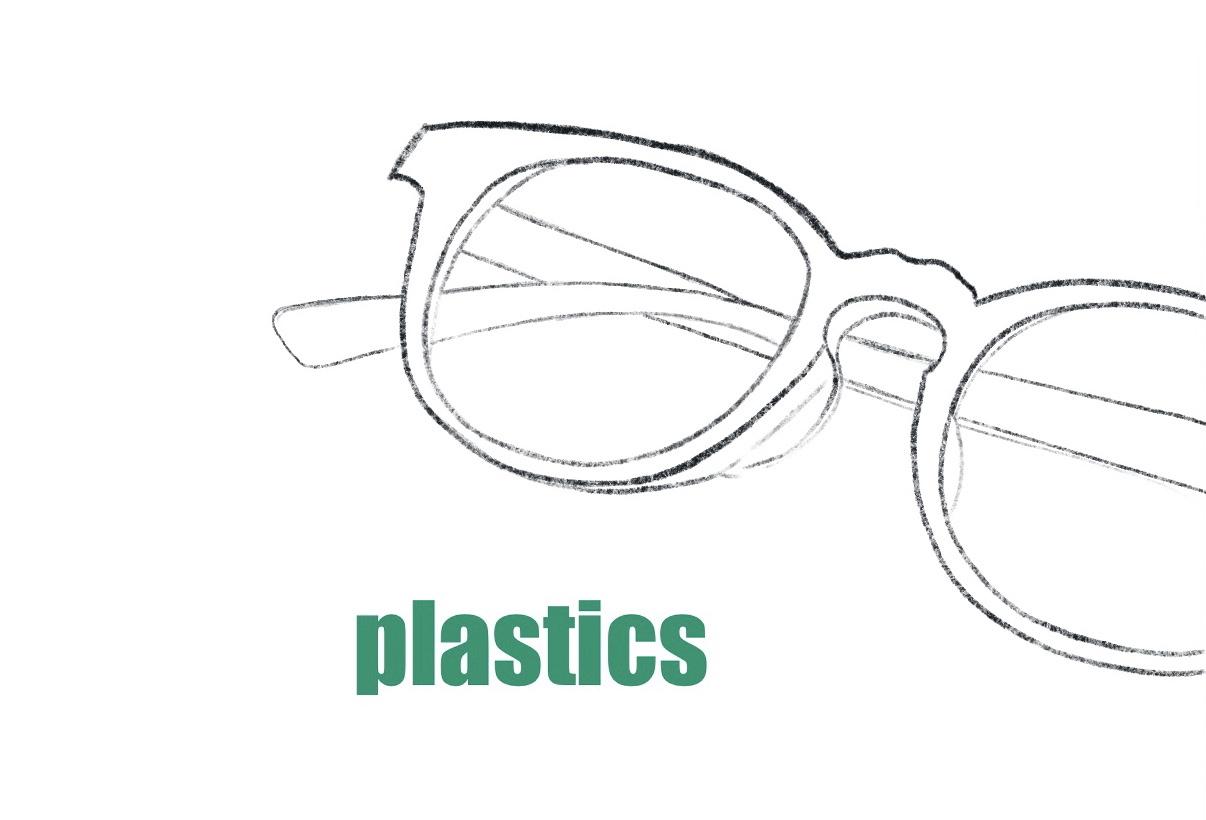 メガネ プラスチックフレーム イラスト
