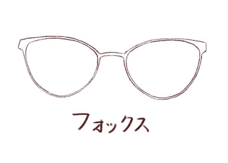メガネのイラスト フォックス