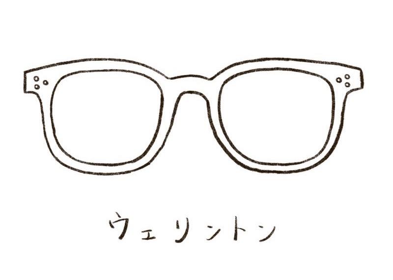 メガネのイラスト ウェリントン