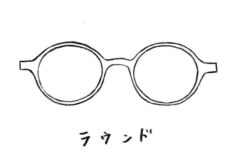 メガネのイラスト ラウンド